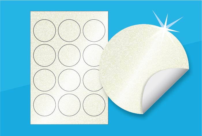 Pearlised Round Labels 60mm