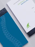 Avery Blue and White Double Sided Business Card Pad Design