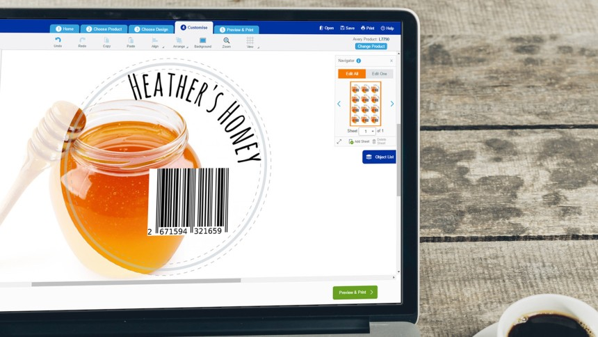 Create barcodes for free using Avery Design & Print