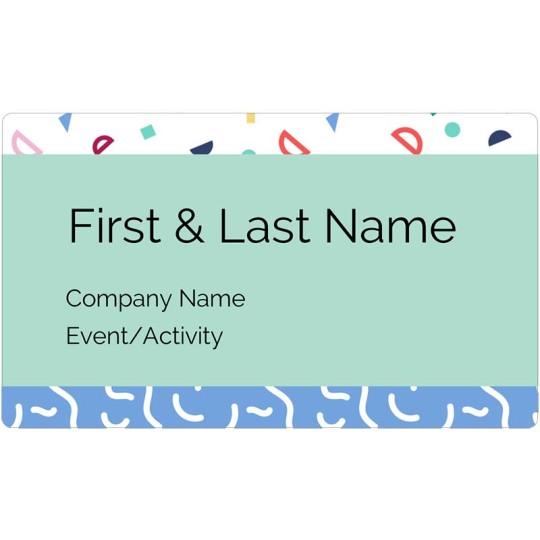 Retro Name Badge Template