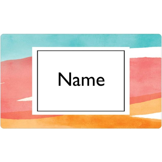 Watercolour Wash Name Badge Template
