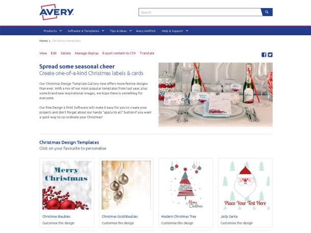 avery holiday templates