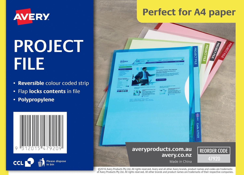 blue transparent plastic project file