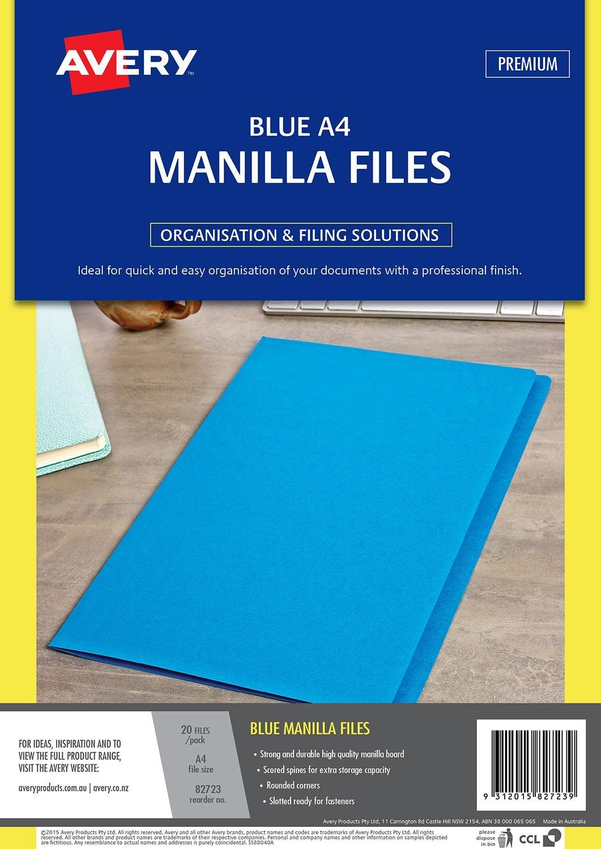 Blue Manilla Folder | 82723 | Avery Australia