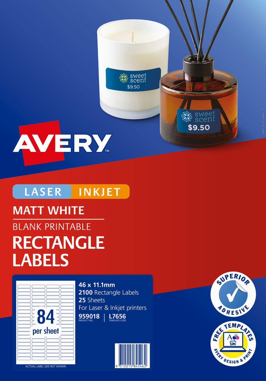 Permanent Multi Purpose Labels 959018 Avery Australia