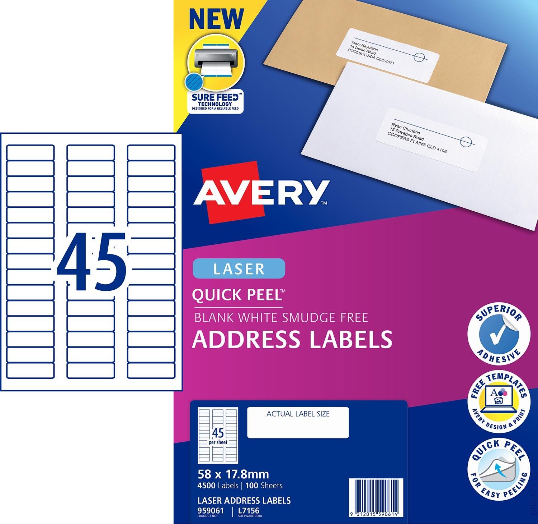 Address Labels with Quick Peel™   959061   Avery Australia