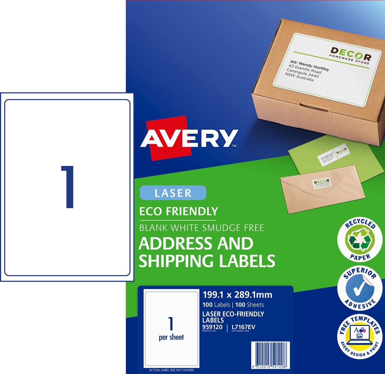 Enviro Shipping Labels | 959120 | Avery Australia