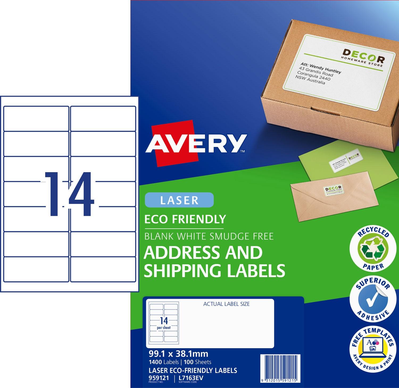 Enviro Address Labels | 959121 | Avery Australia