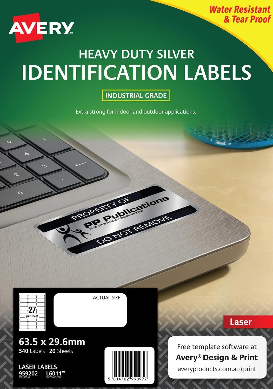 Silver Heavy Duty Labels | 959202 | Avery Australia