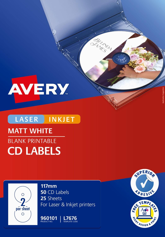 White CD Labels   960101   Avery Australia