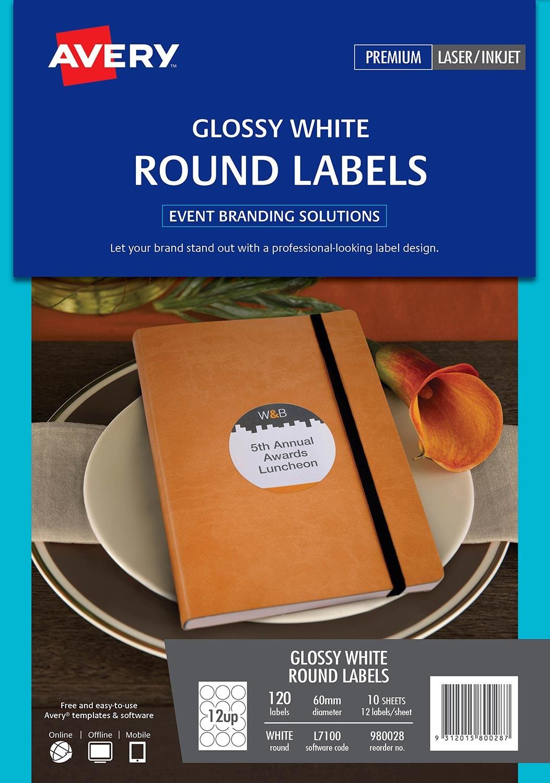 Glossy Round Labels 980028 Avery Australia