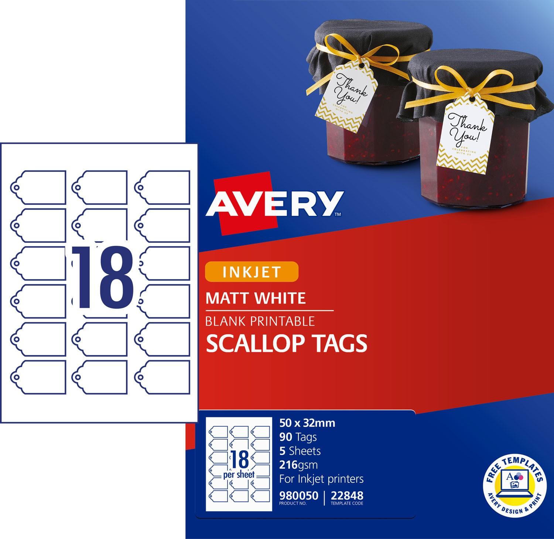 Scalloped Printable Tags 980050 Avery Australia