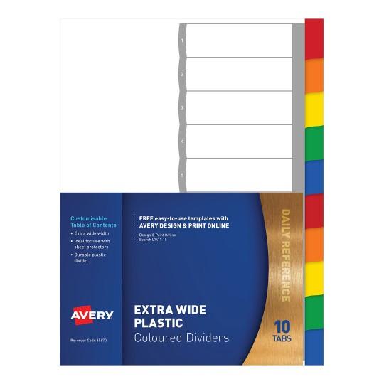 Printable Dividers | Dividers & Presentation | Avery Australia