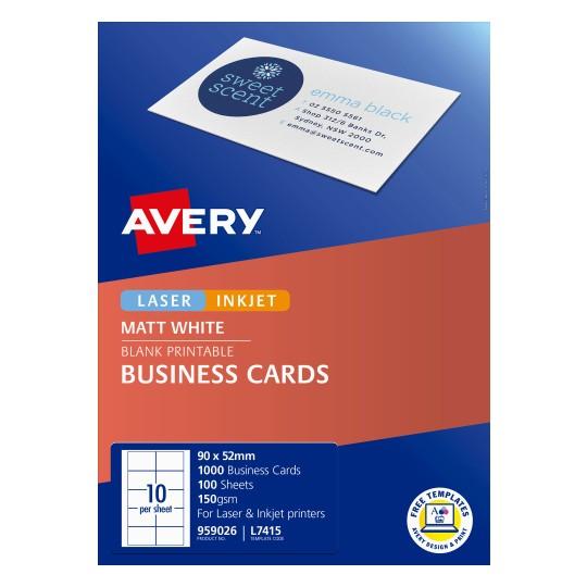 matt finish business cards