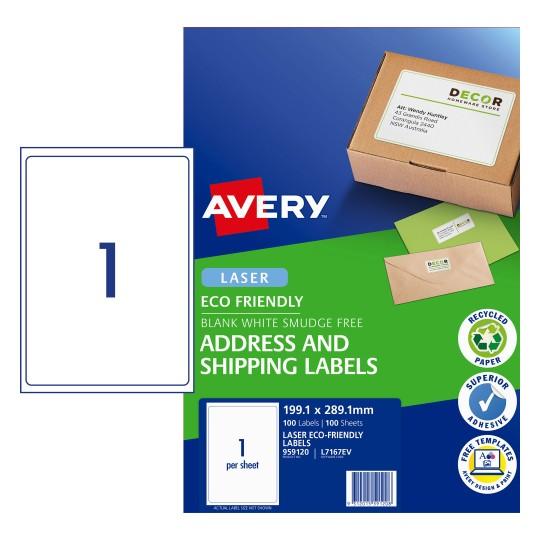 kraft brown enviro labels address shipping avery australia