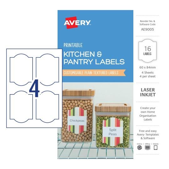Kitchen Labels | Home Organisation Labels | Avery Australia